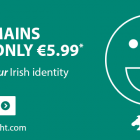 Get a .ie domain name for only €5.99 when you buy hosting