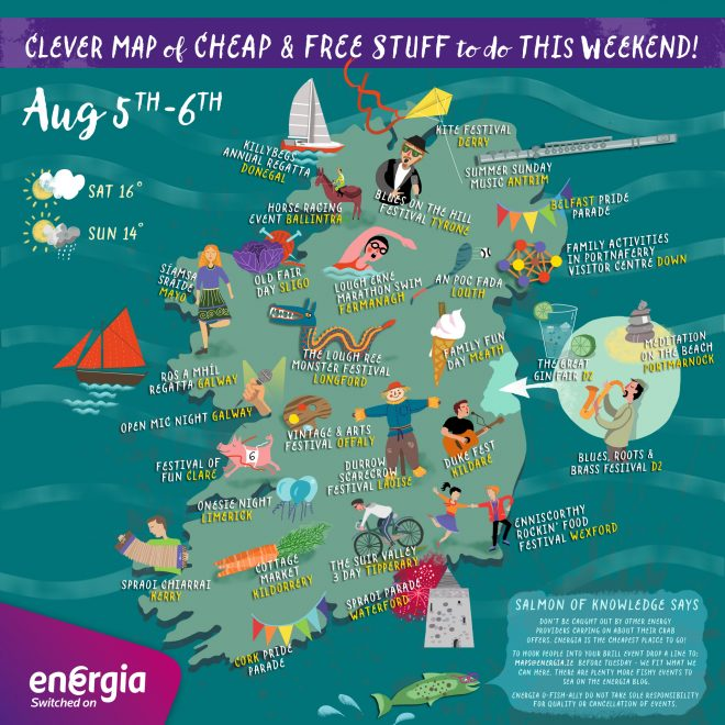 Cool map of fun things to do this August holiday weekend - thanks to Energia! :)