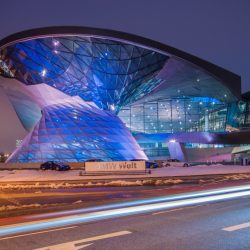 BMW World in Munich, Germany is the exibithion facility of BMW, located next to the Headquarters and Olympiapark