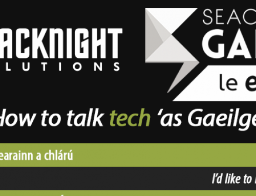 How to say Hosting in Irish? 'Blacknight'! [Infographic]