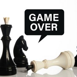 game over concept using chess pieces
