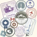 Canada airport travel stamps