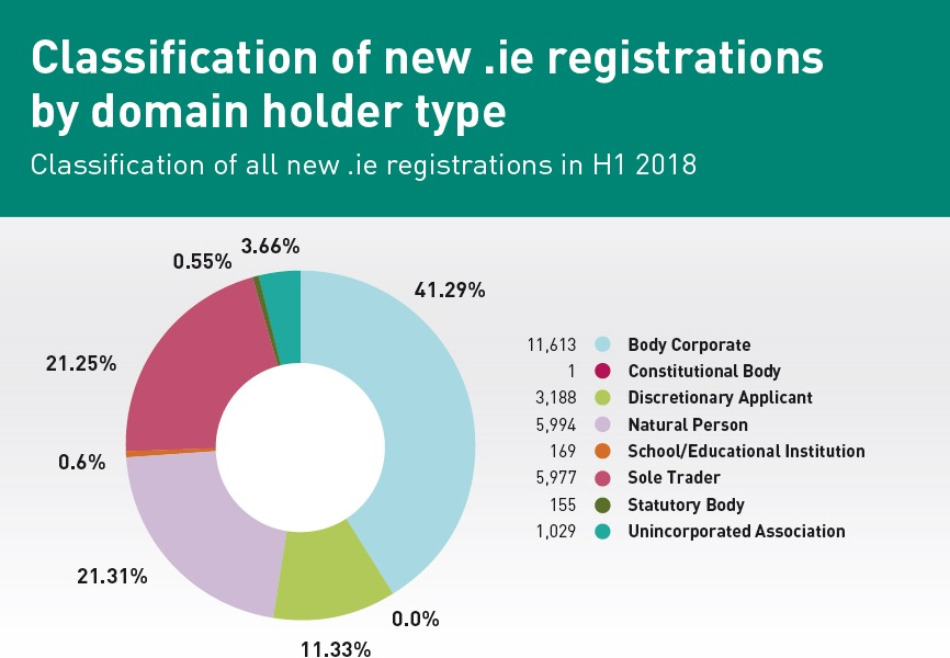 new IE domain name registrations by type