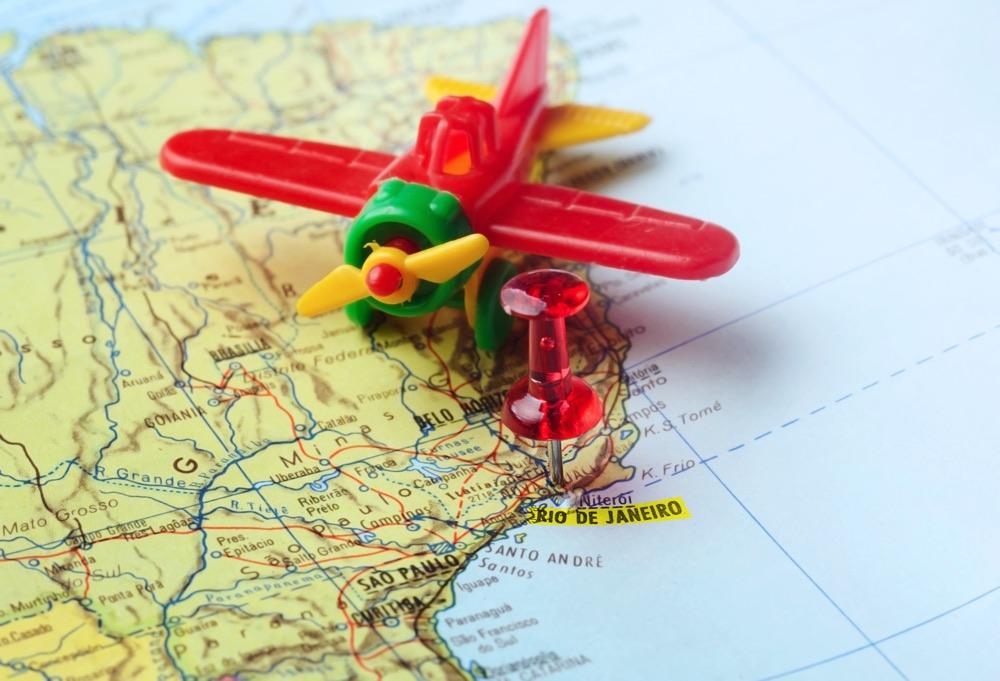 Map Pin Of Rio De Janeiro Airport