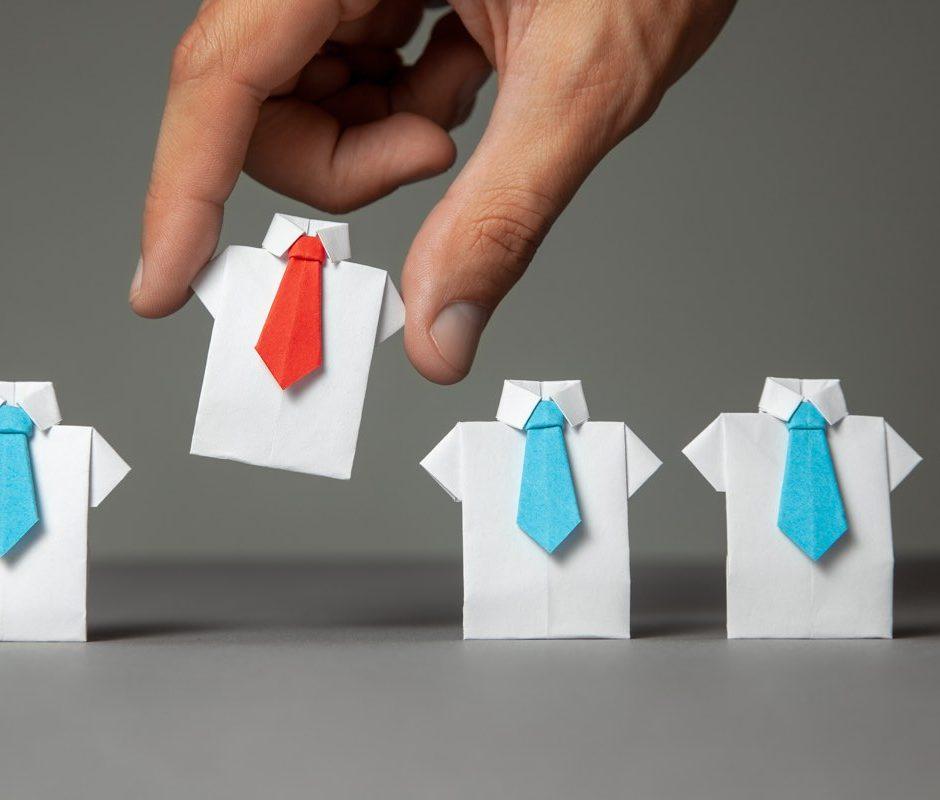 image of shirts metaphor for hiring staff