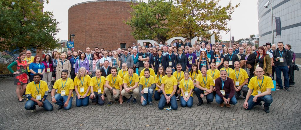 Attendees at WordCamp Dublin in 2017. Blacknight is a platinum sponsor for WordCamp 2019.