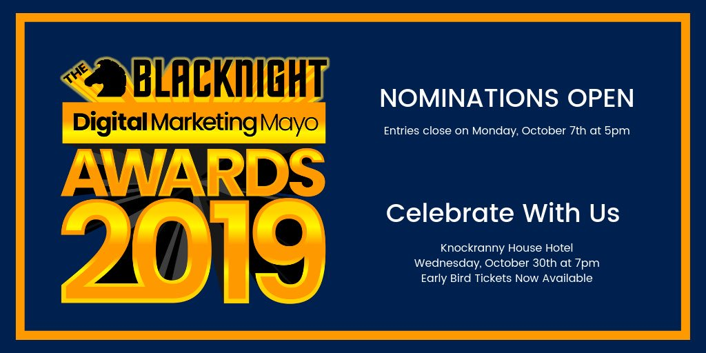 Entries are open now for the inaugural Blacknight Digital Marketing Mayo Awards 2019!