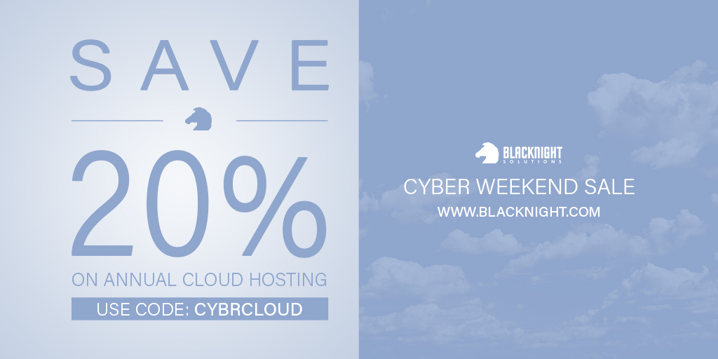 Save 20% on annual Cloud Hosting. Use code: CYBRCLOUD