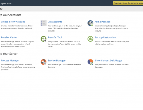 10 WHM/cPanel Settings to Change Immediately on Your New Dedicated Server