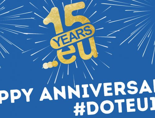 The .EU registry is 15 years old. Tweet a greeting: they'll plant a tree.